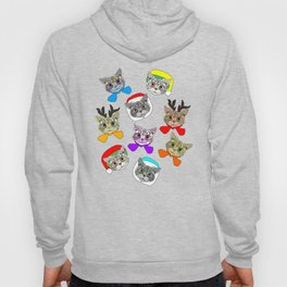 Holiday Festive Party Cats Hoody
