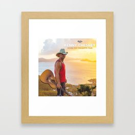 kenny chesney song for the saints tour 2019 simukasama Framed Art Print