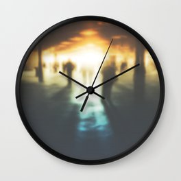 Walk in the Ghost City Wall Clock