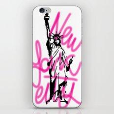 New York City Pink Neon iPhone & iPod Skin