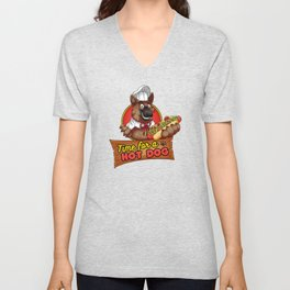 Hot Dog Time! Unisex V-Neck