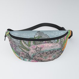 Girl with an Axolotl Bonnet Fanny Pack