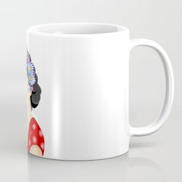 Beautiful woman with wreath Coffee Mug