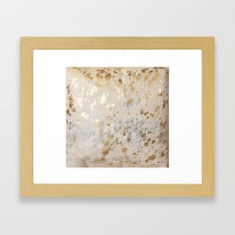 Gold Hide Print Metallic Framed Art Print