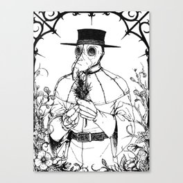 The Quiet Doctor (B&W) Canvas Print