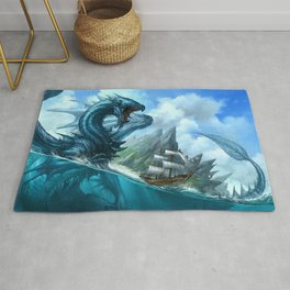 Blue Dragon Rug