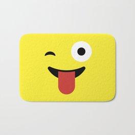 Tongue Out Emoji / Smiley Bath Mat