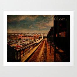Poughkeepsie Train Station Art Print
