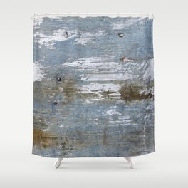 Abstract Rusty Grunge Metal Shower Curtain