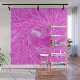 candy swirl Pink Wall Mural