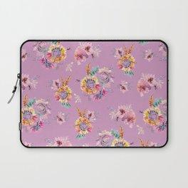 Meadow Flowers on Pastel Purple Laptop Sleeve