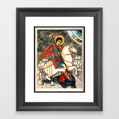 Saint George Killing the Dragon Framed Art Print