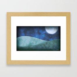 A Moon Filled Night Framed Art Print