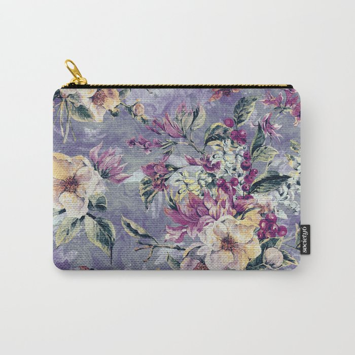 Floral Ocean IV Carry-All Pouch