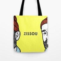 zissou Tote Bags featuring Zissou #2 by Daniel Feldt