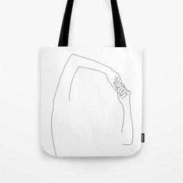 Hands line drawing illustration - Jojo Tote Bag
