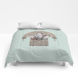Carry On My Wayward Son (Castiel, Sam and Dean Winchester) Comforters