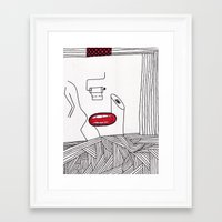 toilet Framed Art Prints featuring toilet by DAMlab