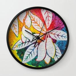 Leaves on the World Tree: Bengali Mango Wall Clock