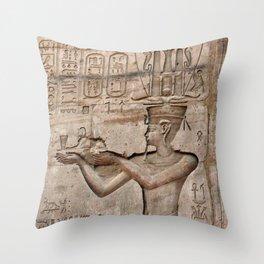 Horus and Temple of Edfu Throw Pillow