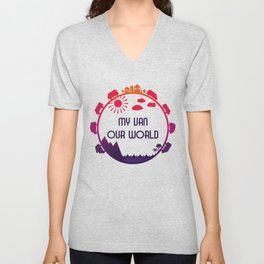 My Van Our World - Sunset Unisex V-Neck