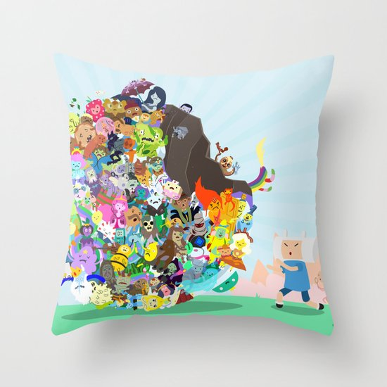 Adventure Time - Land of Ooo Katamari Throw Pillow