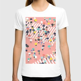 Crossing The Street On a Rainy Day T-shirt