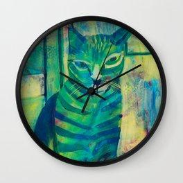 Kitty Cat Carl Wall Clock