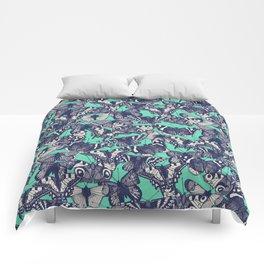 butterfly mint Comforters