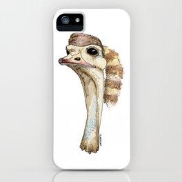 Ostrich in a Coonskin Hat iPhone Case