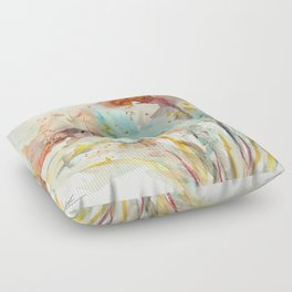 Autumn (abstract watercolor) Floor Pillow
