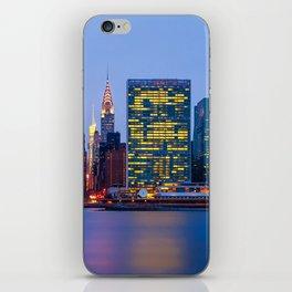 Beginning of the night over Manhattan iPhone Skin