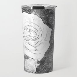 Pink Roses in Anzures 1 Charcoal Travel Mug
