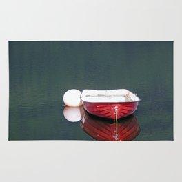 Little Red Boat Rug