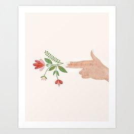 Floral Pistol Art Print