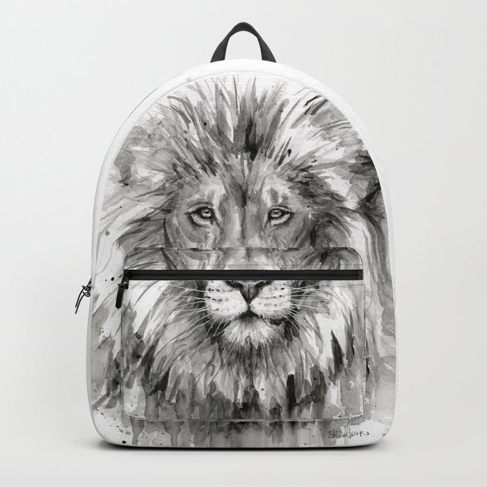 Lion Watercolor Animal Backpack