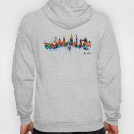 London Watercolor Skyline Silhouette Hoody