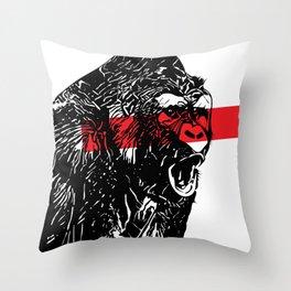 Love gorilla Throw Pillow