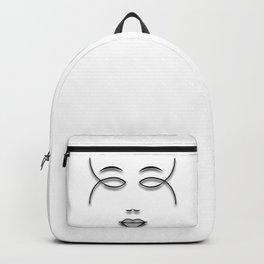 Girl Face Lineart Backpack