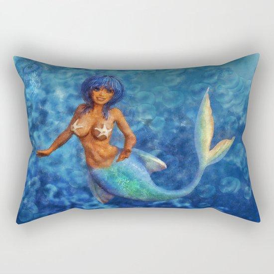 Ocean Mermaid Rectangular Pillow