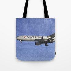 American Airlines Boeing 777 Art Tote Bag