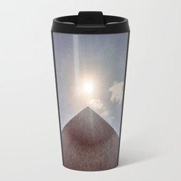 Sun and Pyramid Travel Mug