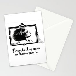 Beware, for I am fearless and therefore powerful. Stationery Cards