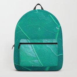 Leaf in Aqua Backpack