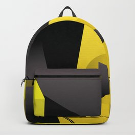 Coloured thick straight lines abstract art Backpack