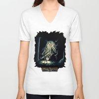 berserk V-neck T-shirts featuring Dark by TheMagicWarrior