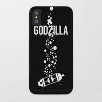 godzilla iPhone & iPod Cases featuring GODZILLA by James Biggie