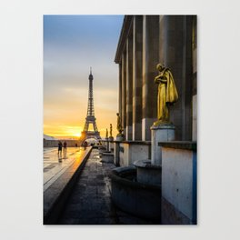 Eiffel Tower from Trocadero Square Canvas Print