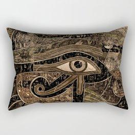 Egyptian Eye of Horus - Wadjet - Gold grunge Rectangular Pillow