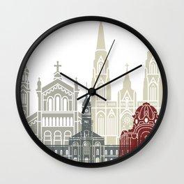 La Plata skyline poster Wall Clock